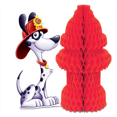 Click for larger picture of FIRE HYDRANT CENTERPIECE (12/CS) PARTY SUPPLIES