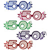 50 GLITTERED FOIL EYEGLASSES (25/CS) PARTY SUPPLIES