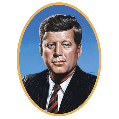 Click for larger picture of JOHN F KENNEDY CUTOUT (12/CS) PARTY SUPPLIES