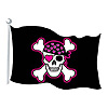 PINK PIRATE FLAG CUTOUT (24/CS) PARTY SUPPLIES