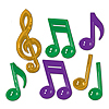 PLASTIC MUSICAL NOTES (84/CS) PARTY SUPPLIES