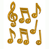 GOLD PLASTIC MUSICAL NOTES PARTY SUPPLIES