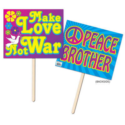 Click for larger picture of 60'S YARD SIGN (6/CASE) PARTY SUPPLIES