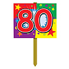 80TH BIRTHDAY YARD SIGN PARTY SUPPLIES