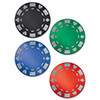 GLITTERED FOIL POKER CHIP CUTOUTS (48/CS PARTY SUPPLIES