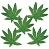 TROPICAL FERN LEAVES (480/CS) PARTY SUPPLIES
