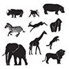 JUNGLE ANIMAL SILHOUETTES (120/CS) PARTY SUPPLIES