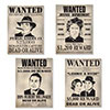 GANGSTER WANTED SIGN CUTOUTS (48/CS) PARTY SUPPLIES