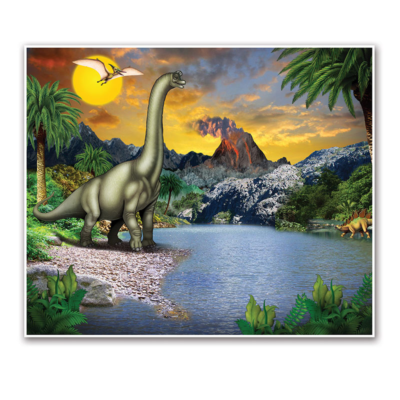 Click for larger picture of DINOSAUR INSTA-MURAL (6/CS) PARTY SUPPLIES