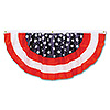 STARS & STRIPES FABRIC BUNTING PARTY SUPPLIES