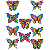MINI BUTTERFLY CUTOUTS (240/CS) PARTY SUPPLIES