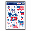 DEMOCRATIC PARTY PEEL 'N PLACE (12/CS) PARTY SUPPLIES