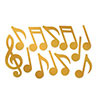 GOLD FOIL MUSICAL NOTE SILHETTE (144/CS) PARTY SUPPLIES