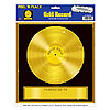 GOLD RECORD PEEL N PLACE DECORATION PARTY SUPPLIES
