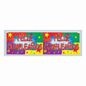 Click for larger picture of FELIZ CUMPLEA�OS FRINGE BANNER PARTY SUPPLIES
