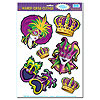 MARDI GRAS CLINGS (12/CS) PARTY SUPPLIES