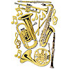 MUSIC INSTRUMENT CUTOUT DECORATIONS PARTY SUPPLIES