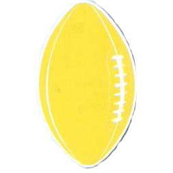 Click for larger picture of DISCONTINUED GOLD FOOTBALL CUTOUT PARTY SUPPLIES