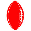 DISCONTINUED RED FOOTBALL CUTOUT PARTY SUPPLIES