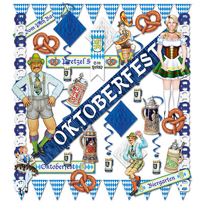 OKTOBERFEST DECORATING KIT - 33 PIECES PARTY SUPPLIES