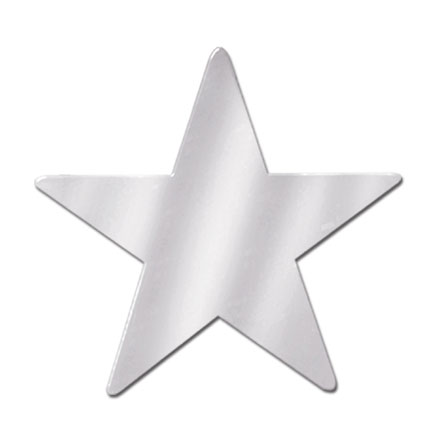 Click for larger picture of 5IN. SILVER STAR CUTOUT PARTY SUPPLIES