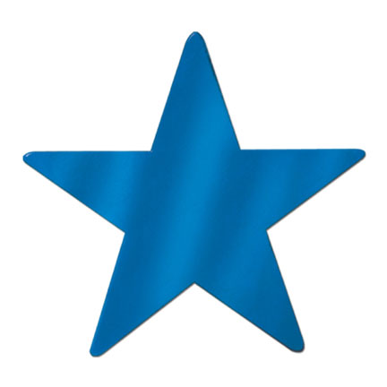 Click for larger picture of FOIL STAR BLUE FOIL 2 SIDE 9IN. PARTY SUPPLIES