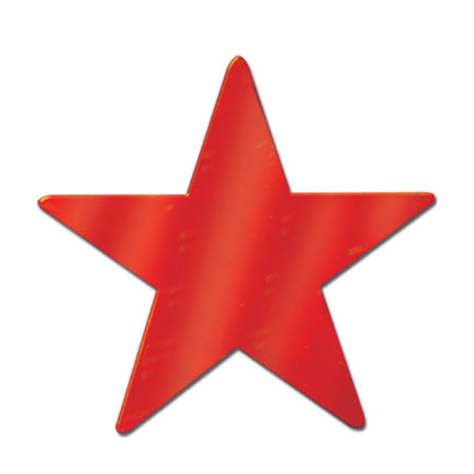 Click for larger picture of FOIL STAR RED FOIL 2 SIDE 9IN. PARTY SUPPLIES
