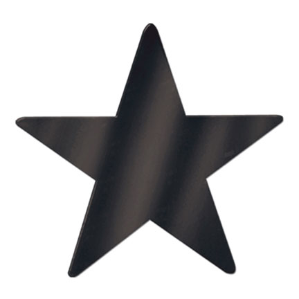 Click for larger picture of 9IN. BLACK STAR PARTY SUPPLIES