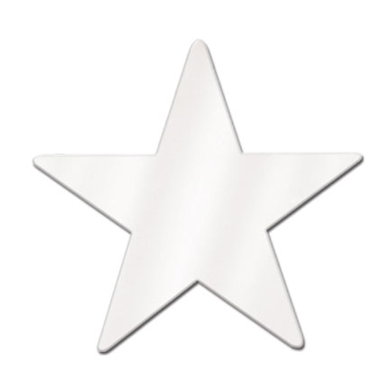 Foil Star White Foil 2 Sides 12in