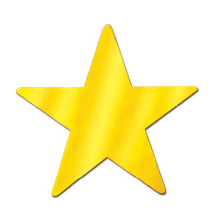 Click for larger picture of FOIL STAR GOLD FOIL 2 SIDES 15IN. PARTY SUPPLIES