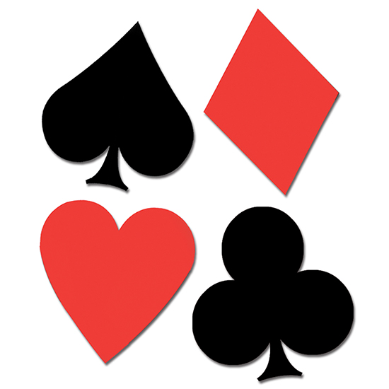 CASINO CARD SUIT CUTOUTS (17IN.-4CT.) PARTY SUPPLIES