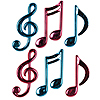 CERISE/TURQUOISE MUSICAL NOTES (72/CS) PARTY SUPPLIES