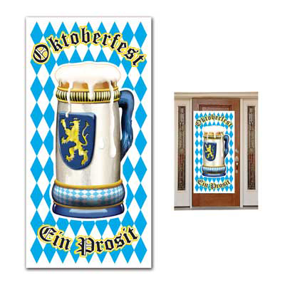 Click for larger picture of OKTOBERFEST DOOR COVER PARTY SUPPLIES