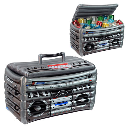 Click for larger picture of INFLATABLE BOOMBOX COOLER PARTY SUPPLIES