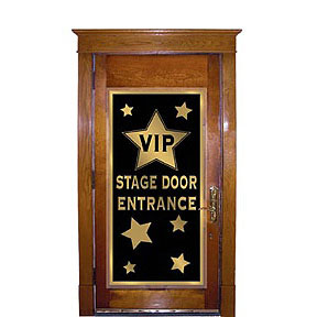 Click for larger picture of VIP STAGE DOOR ENTRANCE DOOR COVER PARTY SUPPLIES