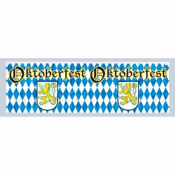 Click for larger picture of OKTOBERFEST METALLIC FRINGE BANNER PARTY SUPPLIES