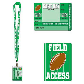 Click for larger picture of GAME DAY PARTY PASS (12/CS) PARTY SUPPLIES