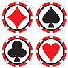 CASINO COASTERS (96/CS) PARTY SUPPLIES