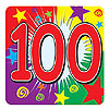 100 COASTERS (96/CS) PARTY SUPPLIES
