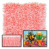 ROSE/PINK FRINGED TISSUE MATS (24/CS) PARTY SUPPLIES