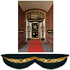 BLACK & GOLD FABRIC BUNTING (6/CS) PARTY SUPPLIES