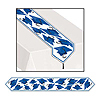 GRAD CAP TABLE RUNNER BLUE PARTY SUPPLIES