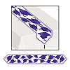 GRAD CAP TABLE RUNNER PURPLE PARTY SUPPLIES