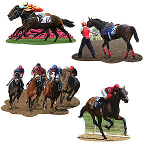 Click for larger picture of DERBY DAY CUTOUTS PARTY SUPPLIES