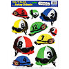 DISCONTINUED JOCKEY HELMETS PEEL 'N PLCE PARTY SUPPLIES