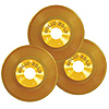 GOLD PLASTIC RECORDS PARTY SUPPLIES