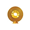 GOLD PLASTIC RECORD CENTERPIECE PARTY SUPPLIES