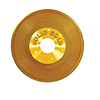 GOLD PLASTIC RECORD PARTY SUPPLIES