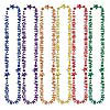 HAPPY 50TH BIRTHDAY BEADS (12/CS) PARTY SUPPLIES
