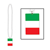 BEADS W/ITALIAN FLAG MEDALLION (12/CS) PARTY SUPPLIES